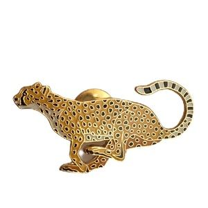 Vintage Leopard / Cheetah Brooch Wild For You Pin